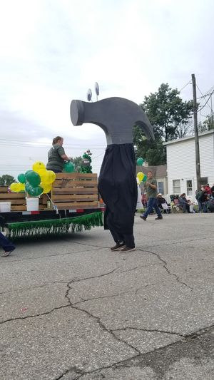 Parade Hammer City Men Business Finance And Industry Headwear Standing Sky Street Art Marching Band