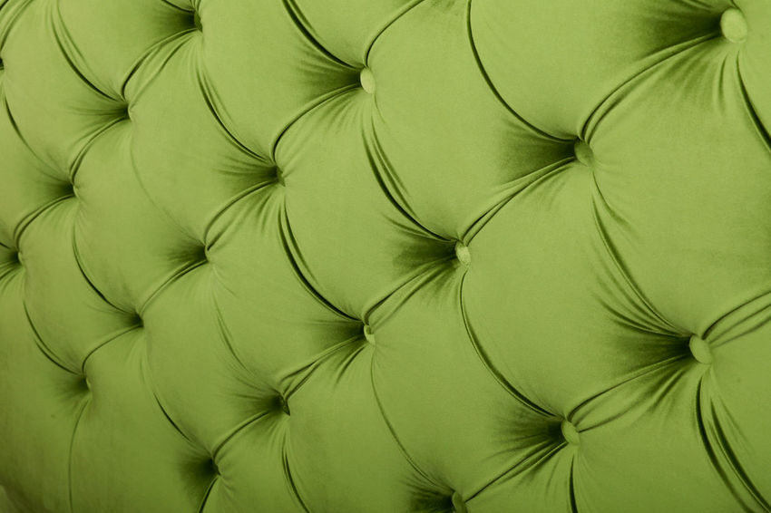 Yellow green luxury capitone Chesterfield style tufted buttoned fabric textile pattern background Backgrounds Bed Capitone Chesterfield Close-up Decor Decoration Design Fabric Furniture Green Color Greenery Home Home Interior Luxury Pattern Premium Retro Retro Style Rich Sofa Textile Upholstery Wall Yellow