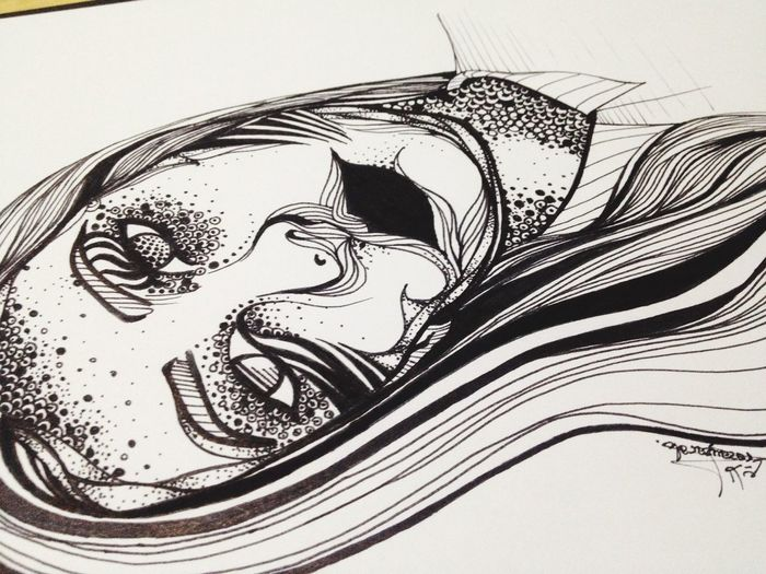 Drawing ArtWork Art My Drawing Face Black And White