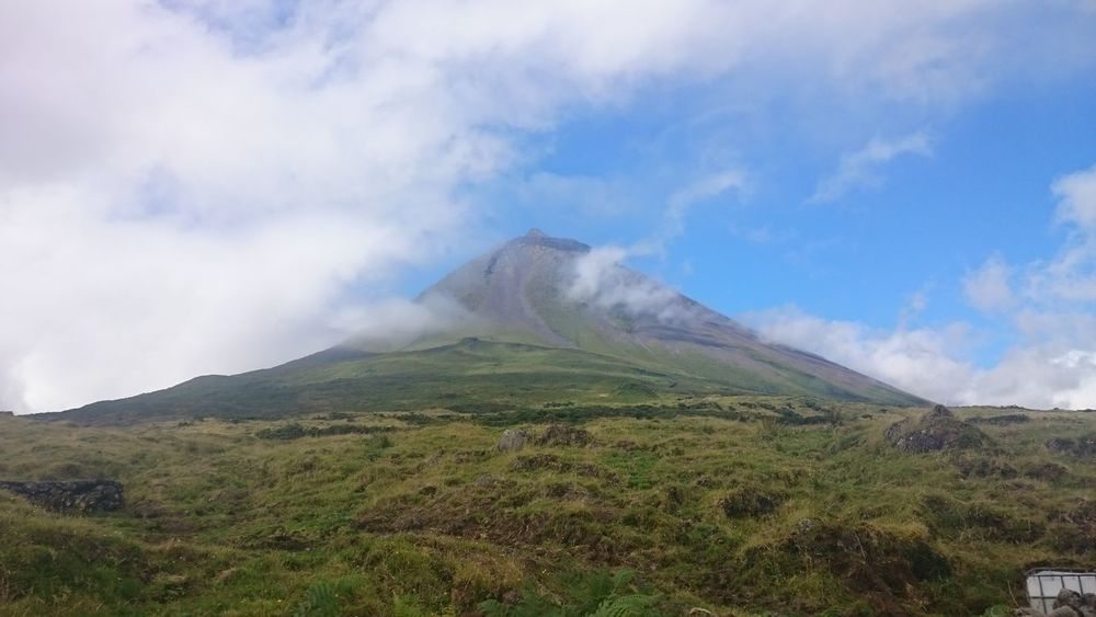 Mountain Cloud - Sky Landscape Nature Outdoors No People Day Sky Rural Scene Grass Beauty In Nature Vulcano Pico Azores Pico Island Pico Mountain