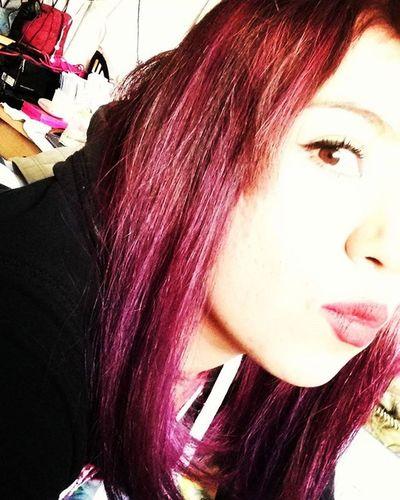 Purple Purplehair NewLook Slyle Hair Hairstyle Look Pinkhair Redhair Morado Rosa Rojo HASHTAG Equis Gato Bah Jessica