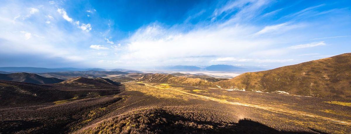 Qilian Mountains Beauty In Nature Blue China Cloud Cloud - Sky Day Gansu Idyllic Landscape Landscapes With WhiteWall Mountain Mountain Range Nature The Great Outdoors With Adobe Non-urban Scene Outdoors The KIOMI Collection Blue WaveRoad Scenics Sky Sunlight Tranquil Scene Tranquility Valley