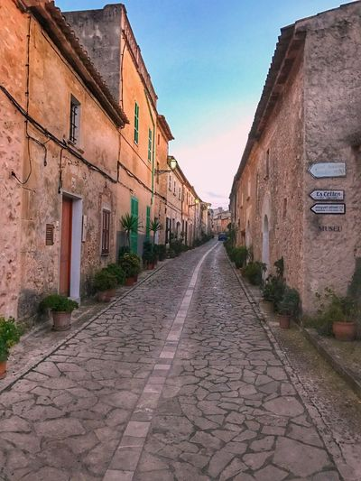 Petra, Mallorca, Spain street view. SPAIN Petra Village View Village Houses Mallorca Islas Baleares Fray Junipero Serra No People Sky Peace First Eyeem Photo