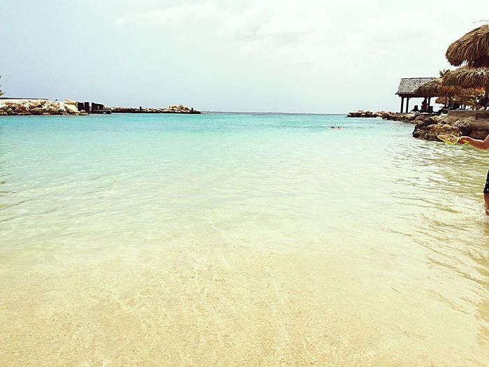 Beach @sea aquarium Curacao. Holiday Relaxing