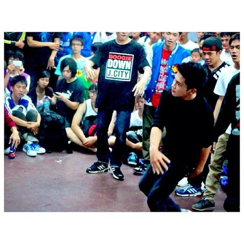 When I was in the battle circle, my crew as supporters to gave me more power BBOY Battle Myturn Frezhmotionz
