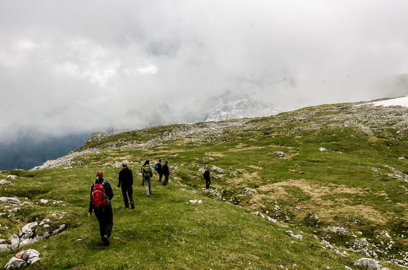 Adventure Beauty In Nature Cloud - Sky Day Exploration Green Color Hiking Hiking Leisure Activity Lifestyles Men Mountain Nationalpark Berchtesgaden Nature Outdoors Physical Geography Real People Reiteralm Reiteralm Scenics Sky Togetherness Tranquility Travel Destinations Vacations