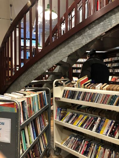 When the bookstore is perfect Bookshelf Book Shelf Library Indoors  Education Large Group Of Objects Learning Men Bookstore Literature Real People Day People