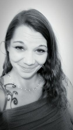 Black_white Selfie ✌ Beautiful ♥ Wavyhairdontcare Tattooed Girl Genuinehappiness