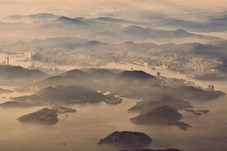 boundaries EyeEm Best Shots Beauty In Nature HongKong Visual Creativity Abstract Birds Eye View Birdwatching From My Point Of View From An Airplane Window From Where I Stand Mountain Beauty Fog City Sunset Dawn Photograph Cold Temperature Sand Gold Colored Irrigation Equipment Rocky Mountains