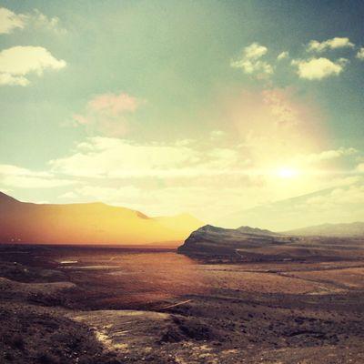 DUNE Melancholic Landscapes Double Exposure Sunset Conceptual