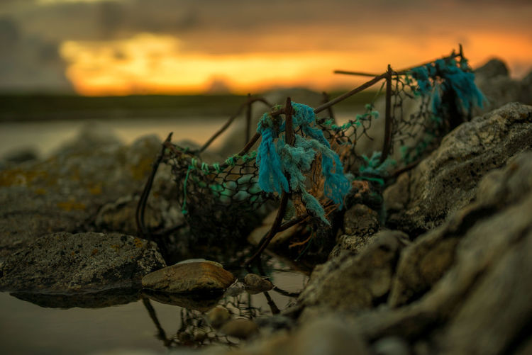 Old Fishing Creel Creel Fishing Creel Outer Hebrides Weathered Beauty In Nature Close-up Fishing Nature No People Old Objects Outdoors Sky Sunset The Week On EyeEm