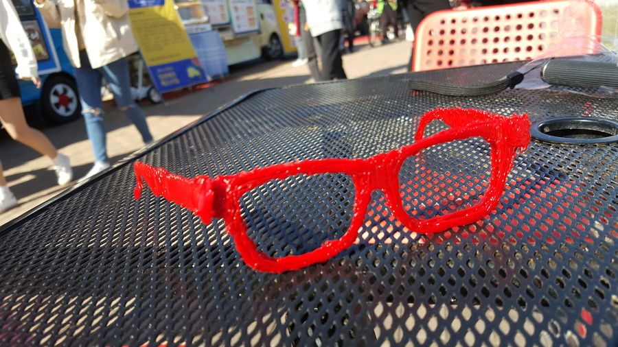 3Dprint Glasses Experimental Korea Hightechnology 4차산업혁명 Red Close-up