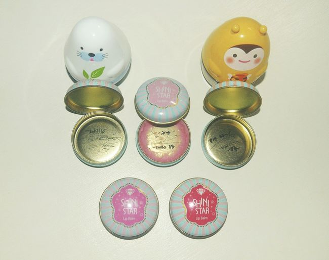 My SHINee Limited Edition Lip Balm. It's been 4 years (?) since I bought it. I still have 2 to finish. ^^;; The OO Mission Lip Balm Limited Edition Limited Edition Lip Balm Cute Hand Cream Hand Cream Signed Lip Balm Autograph Showcase July