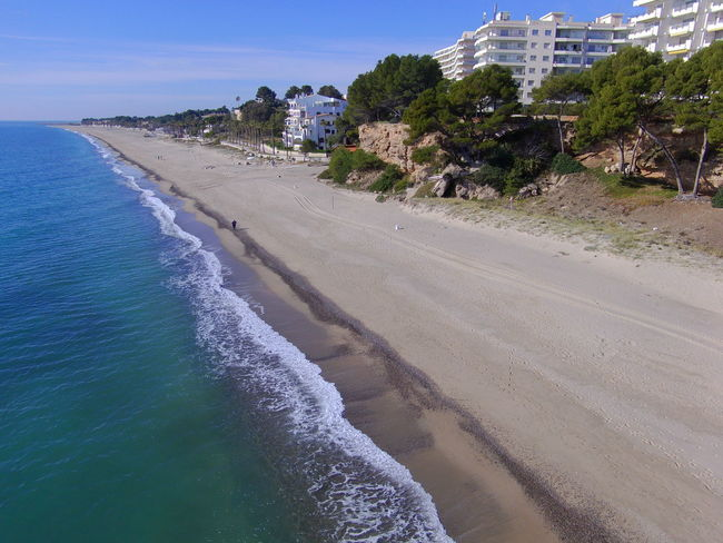 Drone  Miami Platja-Tarragona-Spain Beach Beauty In Nature Clear Sky Day Drone Photography Nature No People Outdoors Sand Scenics Sea Shore Sky Tree Turistic Places Water Wave