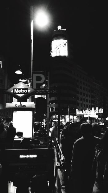 Madrid At Night Madrid Subway Callao Square Callao Schweppes Schweppes Gran Vía Black Blackandwhite Metro Nightphotography City At Night Blackandwhite Photography Cityscape Black And White Friday