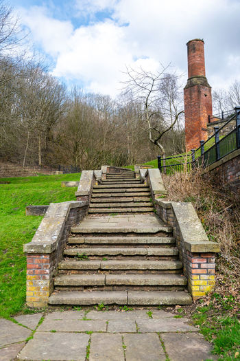 Historical Building Historical Monuments Nature Steps Beauty In Nature Heritage Heritage Building Heritage Site History Park Bridge Sky Steps And Stairs Tameside