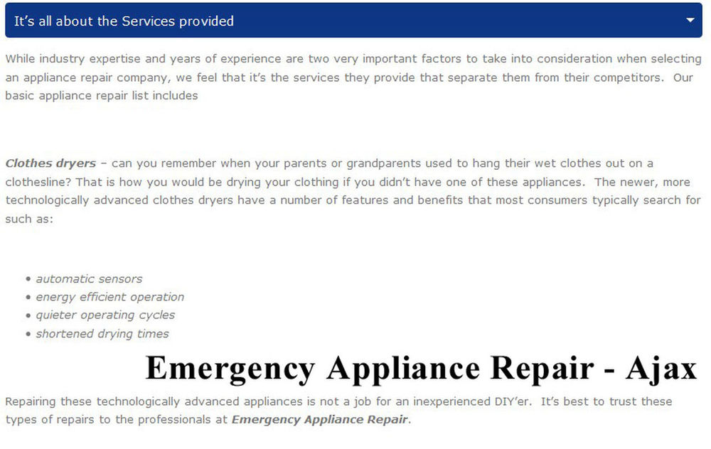 Emergency Appliance Repair 95 Bayly St W #200 Ajax, ON L1S 7K8 (289) 624-1527 Ajax Appliance Repair Ajax ON Appliance Repair Appliance Repair Ajax Appliance Repair Ajax ON Best Appliance Repair Ajax