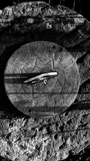 Sundial Gritstone Stone Bronze Carving Time Time Passes By Winter Sunshine Winter Garden Transient Moments Solitude Moving Forward  Time Passes Winter Sun Winter Gardens In My Garden