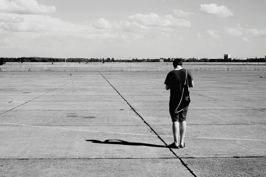 Rule of thirds. Being Lukasz Rule Of Thirds Black And White Eyeem Tempelhof Adventure Light And Shadow Shadow