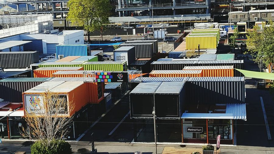 I Love My City re-start mall. Shipping containers