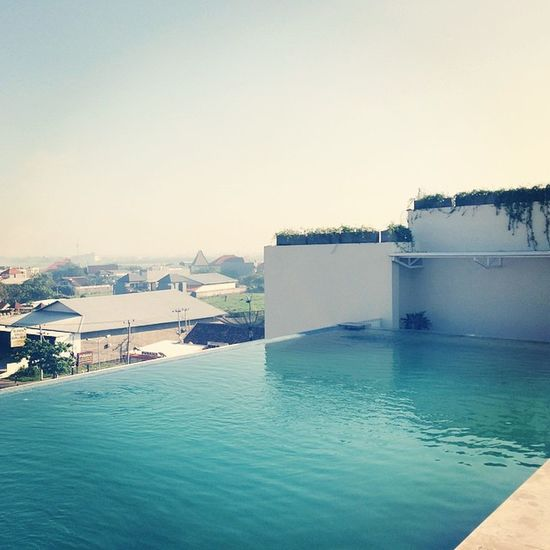 Love this rooftop pool @atanayahotel Bali Kuta Sunsetroad Pool vacation vscocam travel sun sky