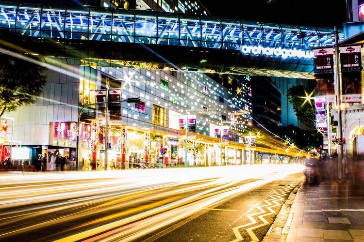 Night Lights Lights Light Trails Cityscapes