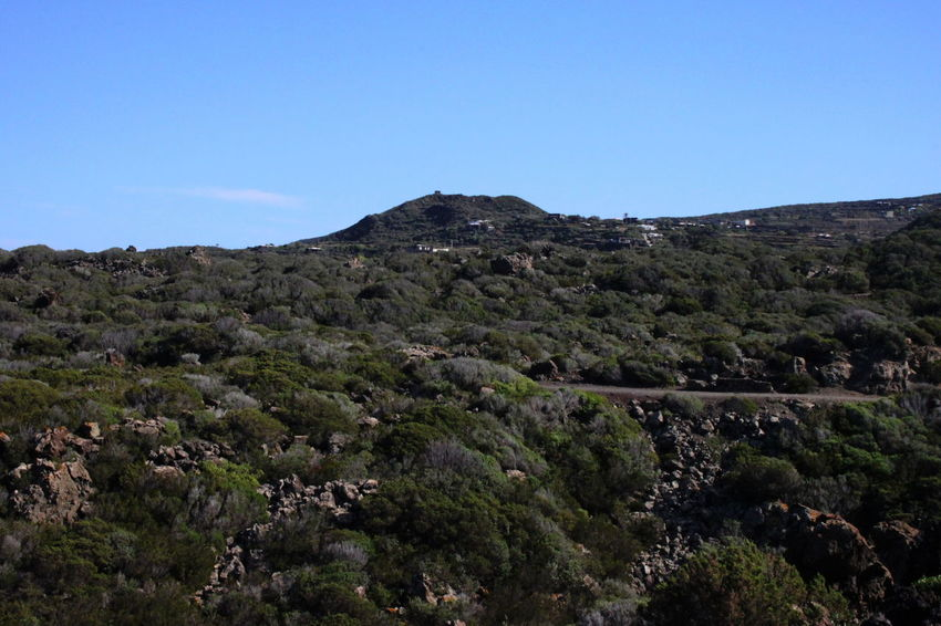 Pantelleria Beauty In Nature Blue Clear Sky Day Landscape Mountain Nature No People October 2015 Outdoors Scenics Sky Tranquility