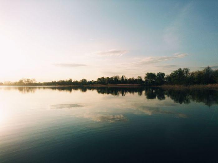 Rajgród, Poland. Reflection Lake Water Nature Beauty In Nature Sky Scenics EyeEm Best Shots VSCO EyeEm Best Edits Landscape Cloud - Sky Horizon Over Water