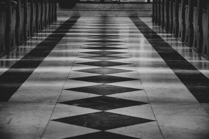 Pattern Flooring The Way Forward No People Tiled Floor Architecture Direction Tile Day Checked Pattern Built Structure Shadow Indoors  Diminishing Perspective Building Nature Empty Sunlight Church Church Buildings EyeEmNewHere EyeEm Best Shots EyeEm Selects Eye4photography  The Week on EyeEm