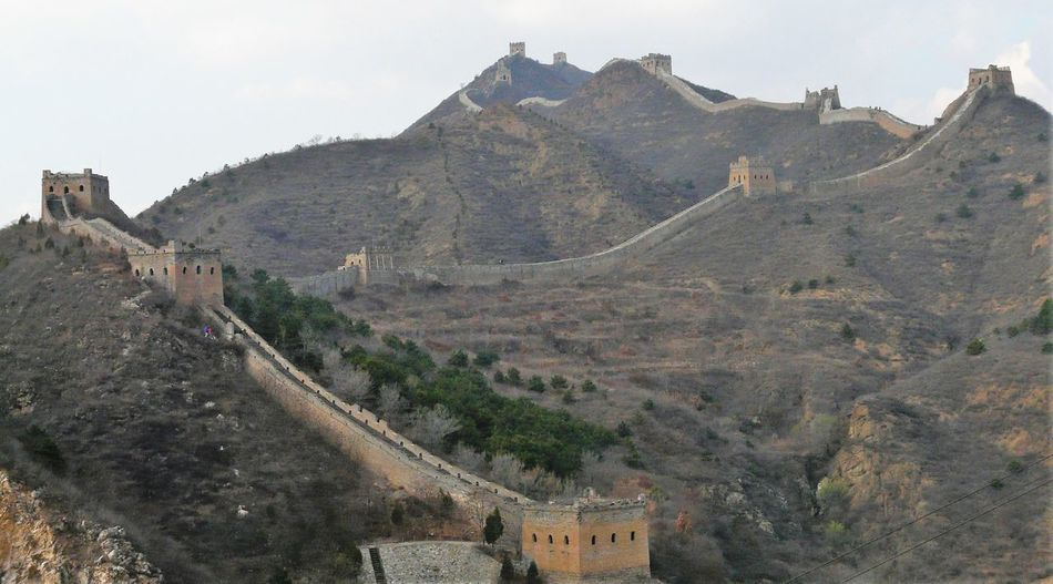 View of fort on mountain