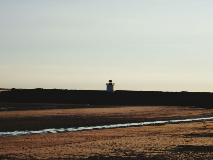 Distant lighthouse