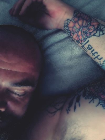 Hairy Guy Relaxation Male Form Tattoo Real People One Young Man Only Day Human Body Part Mustache Headshot One Person Adults Only Underarm Hairychest  Portrait Beard Male Tattoos Inklife Tatted