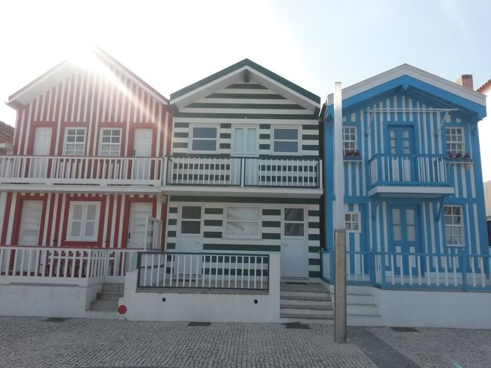 Architecture Built Structure Building Exterior Close-up Houses By The Sea Sunny Day 🌞 Costa Nova Aveiro, Portugal Façade Architecture