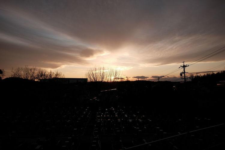 Sunset Silhouette Sky Cloud - Sky