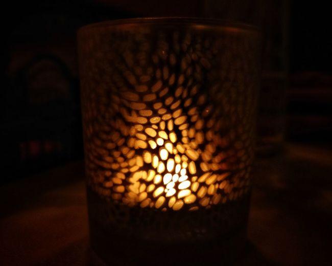 A soft light on
