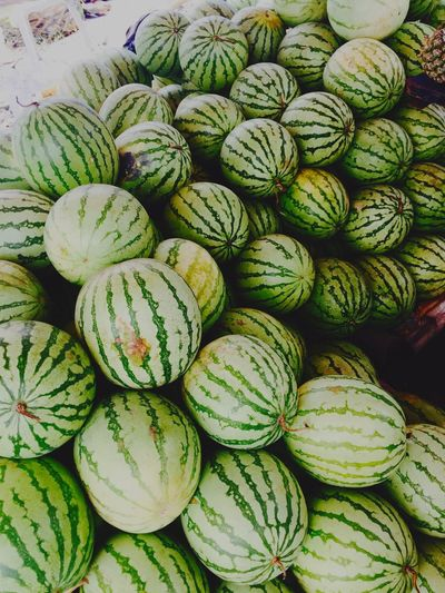 Watermelons for sale at market