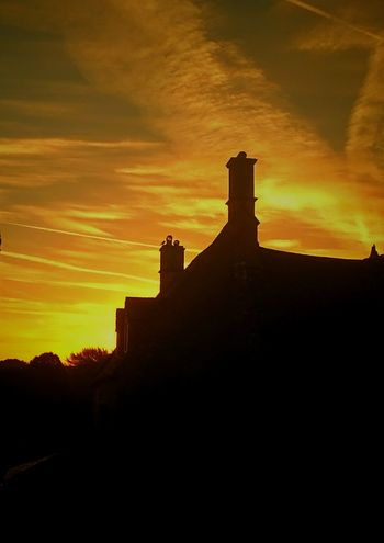 Sunset Architecture Building Exterior Built Structure Outdoors No People Medieval EyeEm Best Shots Beauty In Nature Sunrise N Sunsets Worldwide  Sunrise Silhouette Chimneys