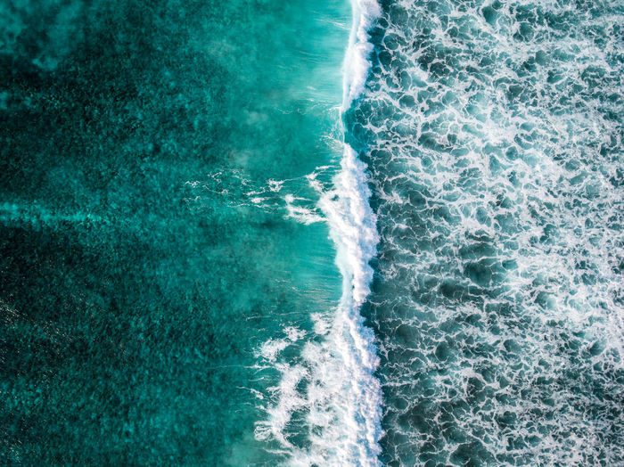 The ocean is truly a thing of immense beauty Water Sea Motion Sport Aquatic Sport Surfing Wave Beauty In Nature High Angle View Nature Day Backgrounds Outdoors Full Frame Wake - Water Blue Swimming Pool Turquoise Colored Power In Nature Aerial View Aerial Photography Drone  Wanderlust Ocean No People