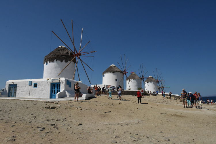 Aegean Aegean Islands Aegean Sea Blauer Himmel Blue Sky Greece GREECE ♥♥ Hellas Kykladen Kyklades Mykonos Mykonos,Greece Windmill Windmühle ägaisches Meer ägäis ägäische Inseln