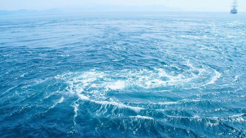 瀬戸内海の渦潮。