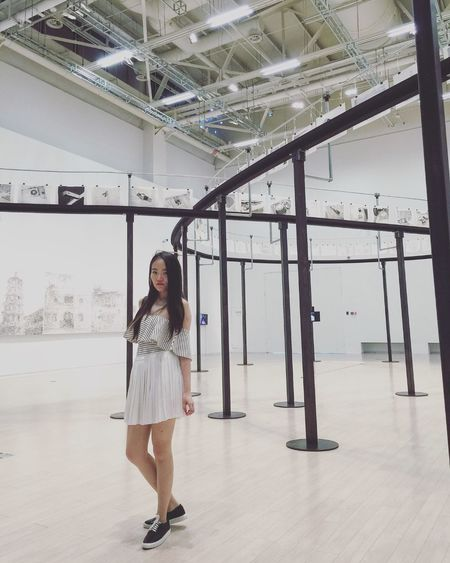Power station of Art,Shanghai Chinese Girl Exhibition Of The Week Powerstationofart Afternoon Shanghainese Asian Girl Life In Motion Selfie Portrait The Place Where I Have Been