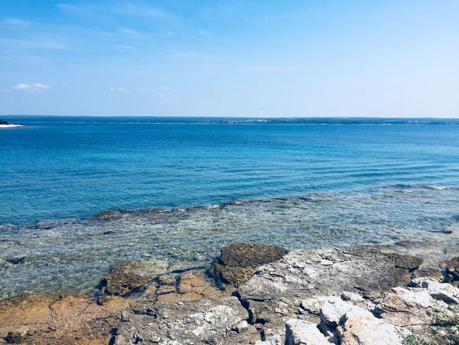 In love with the blue Sea Beauty In Nature Blue Island Rocky Coastline Sea Titosresidance Turquoise Colored Water