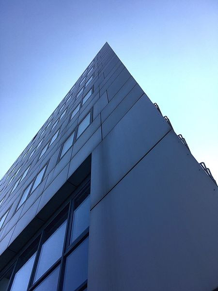 Architecture Built Structure Building Exterior Low Angle View Modern Blue Skyscraper No People Day Clear Sky Outdoors Sky City Vienna Austria