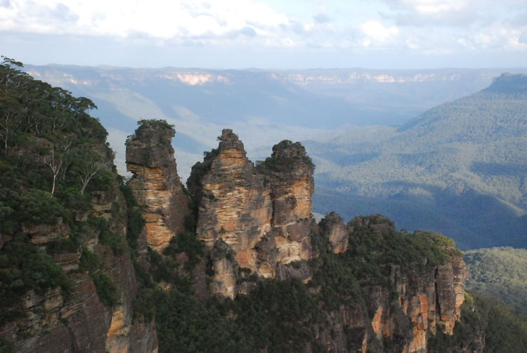 Three Sisters at Blue Montains National Park, Australia 2012 Beauty In Nature Canyon Cloud - Sky Day Geology Landscape Mountain Nature No People Outdoors Physical Geography Scenics Sky Three Sisters Travel Destinations Vacations