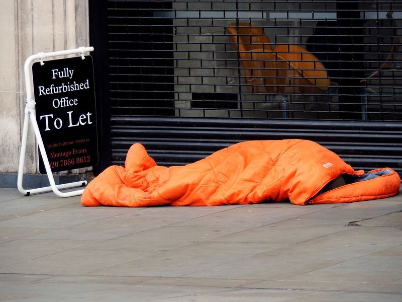Homelessness. Trafalgar square. London. 27/10/2018 Property Market Property To Let Estate Agents Rough Sleepers Sleeping Rough Street Sleeping Homeless Homelessness  LONDON❤ Trafalgar Square Stevesevilempire Steve Merrick Olympus OM-D Omd Orange Color Communication Street Sign Architecture Day No People