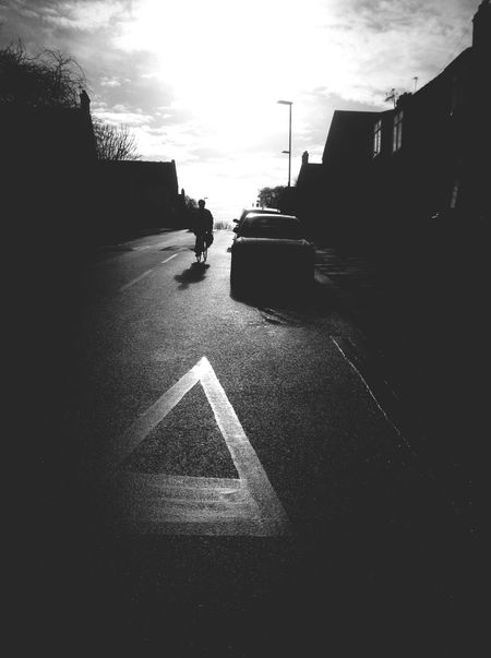 We are more when we are gone. Northlondon Sillouette Blackandwhite Bicycle