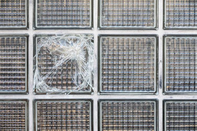 Full frame shot of grid glass pattern