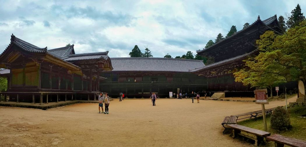 a little warped Mitsunodo: the Daikodo (main hall), Jikido (lodging and dining hall, now exhibiting temple treasures) and Jogyodo (gymnasium) || Engyoji Temple The Last Samurai Travels Travel Traveling Nippon