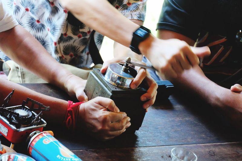 Coffee Maker Coffee Time Real People Group Of People Men Indoors  Friendship Medium Group Of People Adult