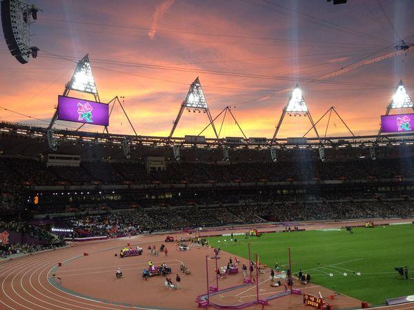 Natural Sunset London 2012 paralympics Unedited Suntset London Olympics 2012 London Paralympics 2012 Stadium Lights Beautiful